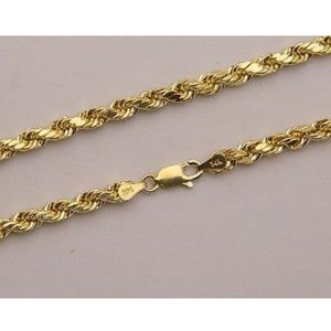 Accessories - 14K Genuine Real Gold Rope Chain 3MM 22 Inch NEW